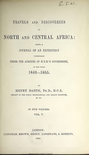 Getty Research Institute - Travels and Discoveries in North and Central Africa Vol. 5