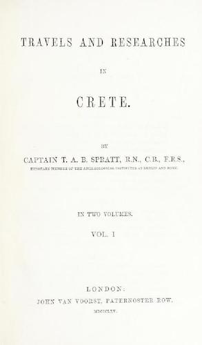 British Library - Travels and Researches in Crete