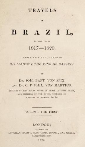 Travels in Brazil Vol. 1 (1824)