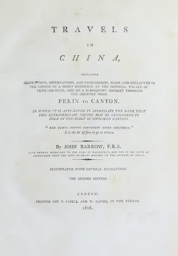 Travels in China (1806)