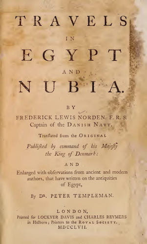 Archaeology - Travels in Egypt and Nubia Vol. 1