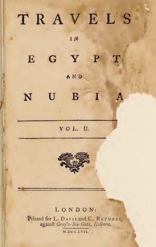 Archaeology - Travels in Egypt and Nubia Vol. 2