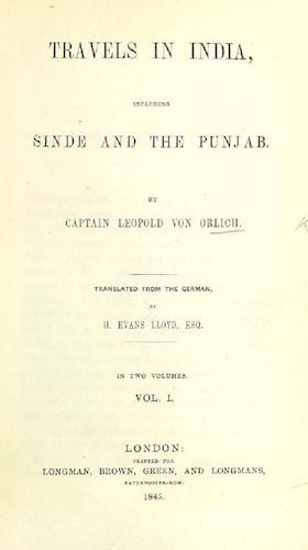 Travels in India, including Sinde and the Punjab (1845)