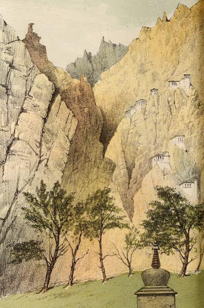Travels in Ladak, Tartary, and Kashmir - Buddhist Monastery near Le (1862)