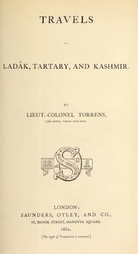 University of Toronto - Travels in Ladak, Tartary, and Kashmir
