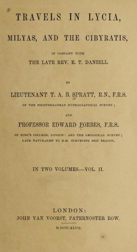 Natural History - Travels in Lycia, Milyas, and the Cibyratis Vol. 2