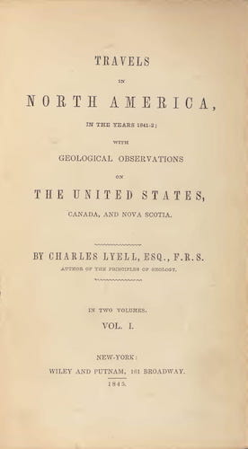 Geology - Travels in North America