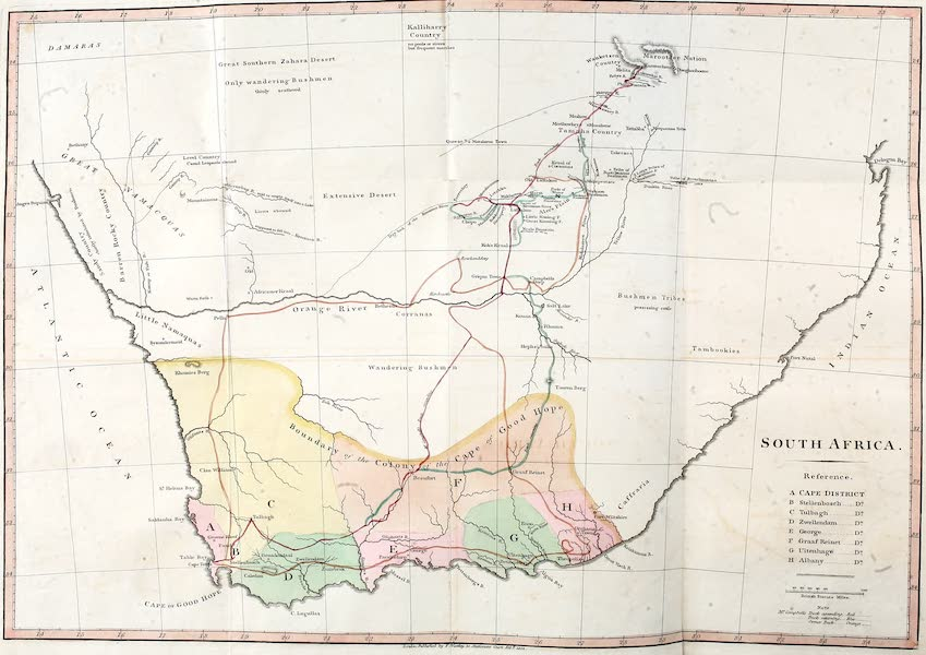 Travels in South Africa Vol. 1 - Map of South Africa (1822)