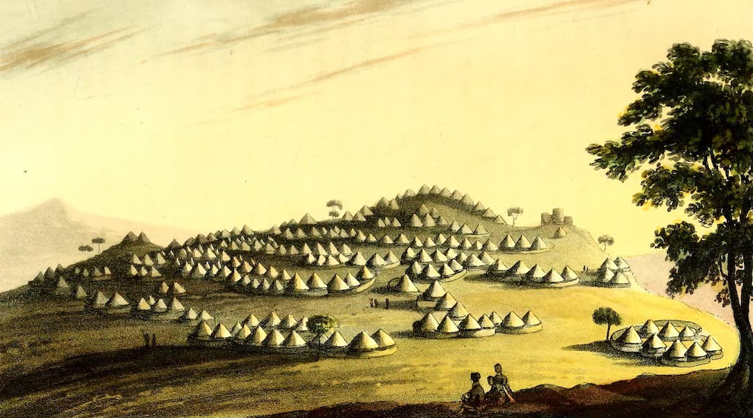 Travels in South Africa Vol. 1 - The King's district of the City of Kurreechane, in the Marootzee Country (1822)