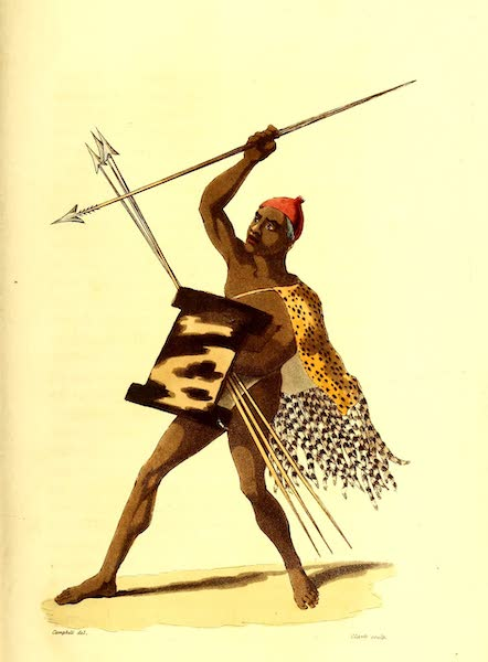 Travels in South Africa Vol. 1 - Mocelway, young King of the Marootzee (1822)