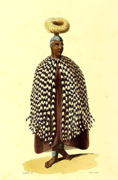 Travels in South Africa Vol. 2 - Mahootoo, Queen of Lattakoo in full dress (1822)
