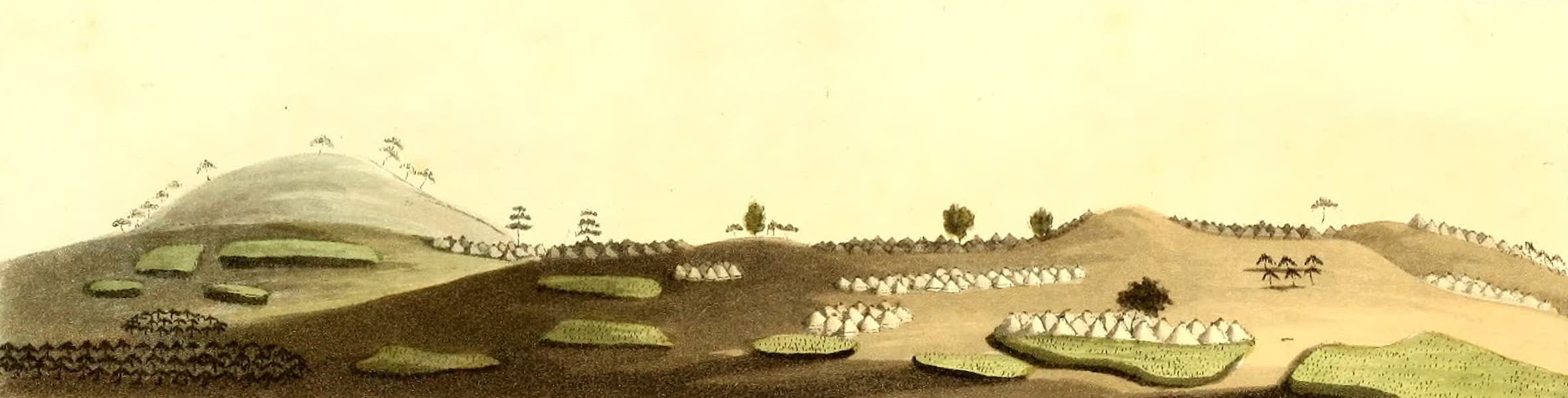 Travels in South Africa Vol. 2 - City of Mashow, from the West, with adjacent Villages &c (1822)