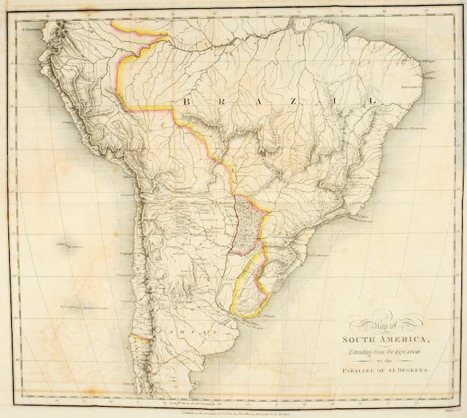Travels in South America Vol. 1 - Map of South America (1825)