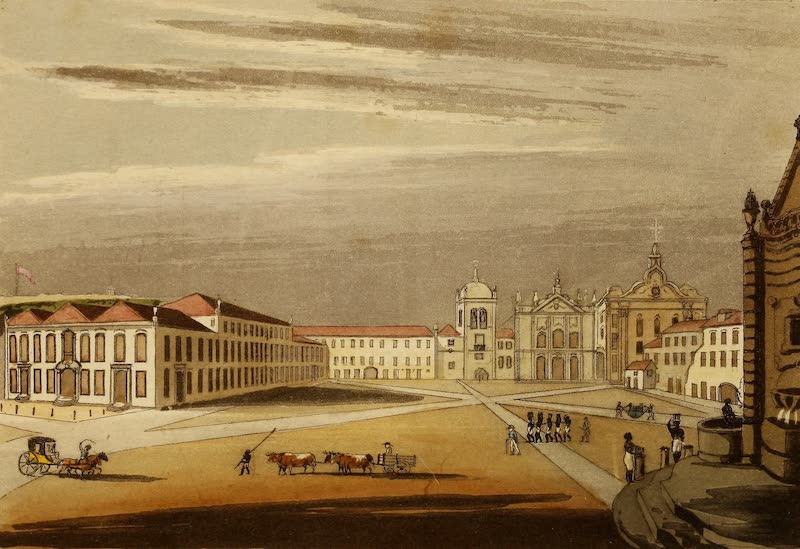 Travels in the Gold and Diamond Districts of Brazil - Palace and Great Square in Rio de Janeiro (1825)