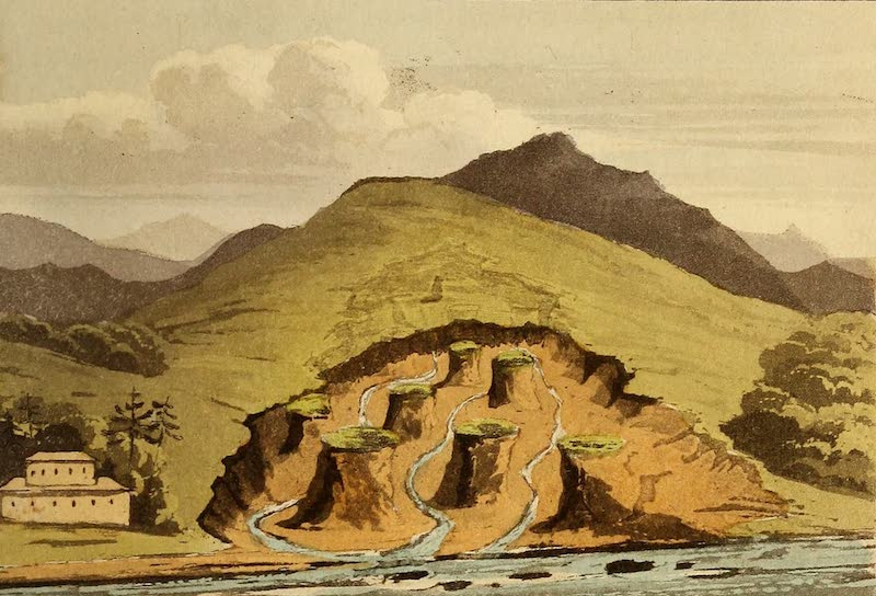 Travels in the Gold and Diamond Districts of Brazil - Break in the Hill, shewing the Topaz Mine at Capon (1825)