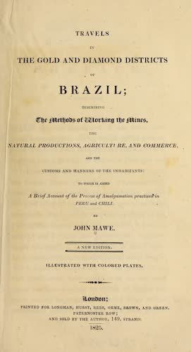 Travels in the Gold and Diamond Districts of Brazil - Title Page (1825)