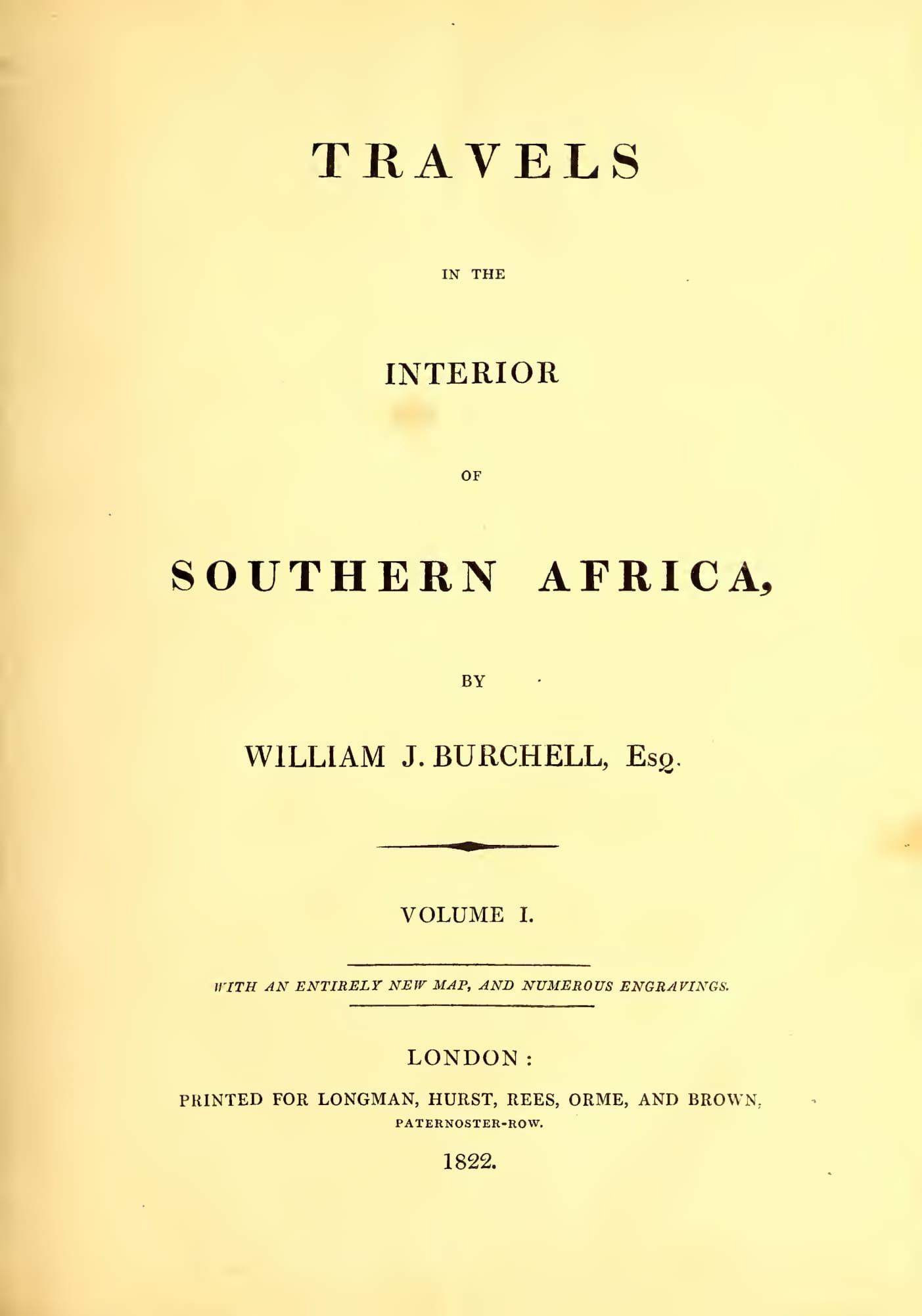 Biodiversity Heritage Library - Travels in the Interior of Southern Africa Vol. 1