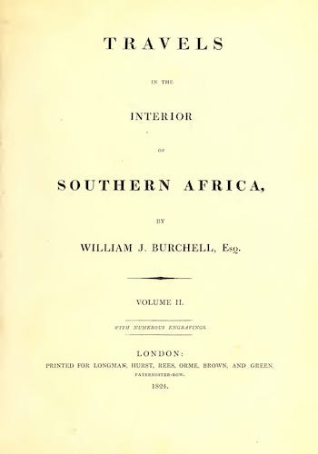Biodiversity Heritage Library - Travels in the Interior of Southern Africa Vol. 2