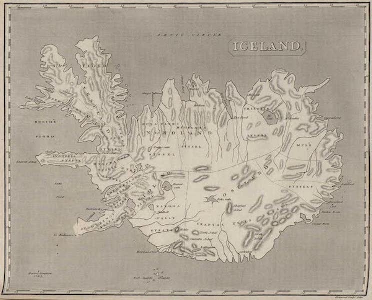 Travels in the Island of Iceland - Map of Iceland (1811)