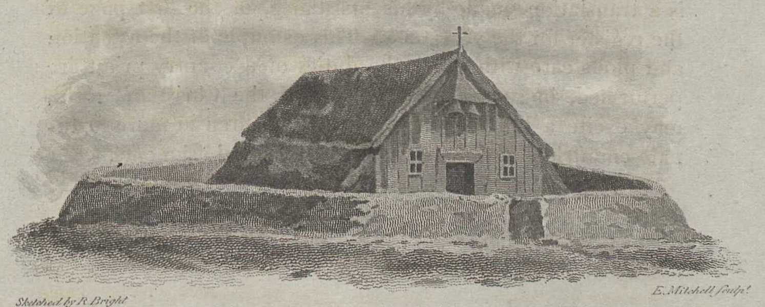 Travels in the Island of Iceland - Church of Saurbar (1811)