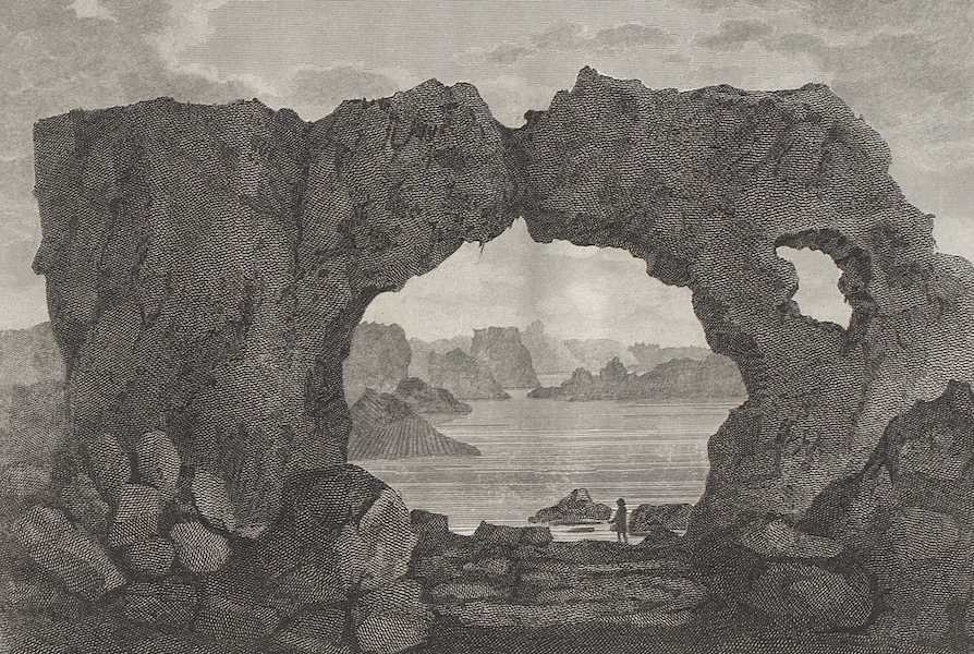 Travels in the Island of Iceland - Natural Arch on the Coast Near Stappen (1811)
