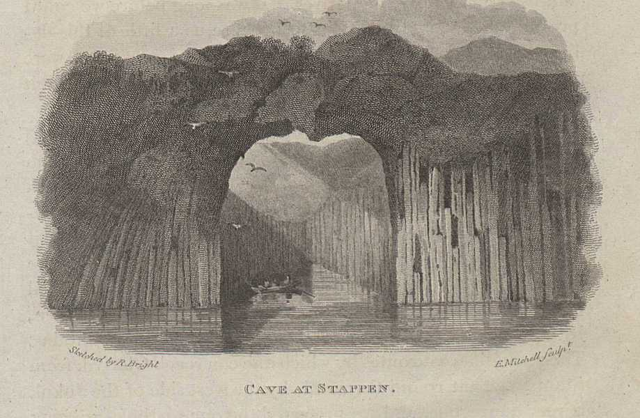 Travels in the Island of Iceland - Cave at Stappen (1811)