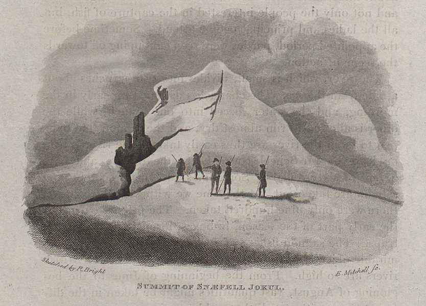 Travels in the Island of Iceland - Summit of Snaefell Jokul (1811)