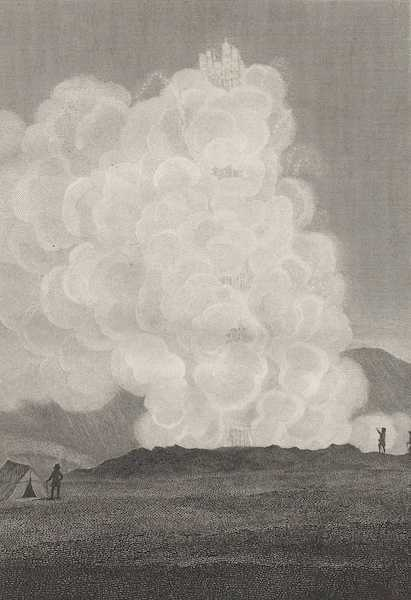 Travels in the Island of Iceland - Eruption of the Great Geyser (1811)