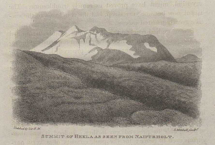 Travels in the Island of Iceland - Summit of Heklaas seen from Naifurholt (1811)
