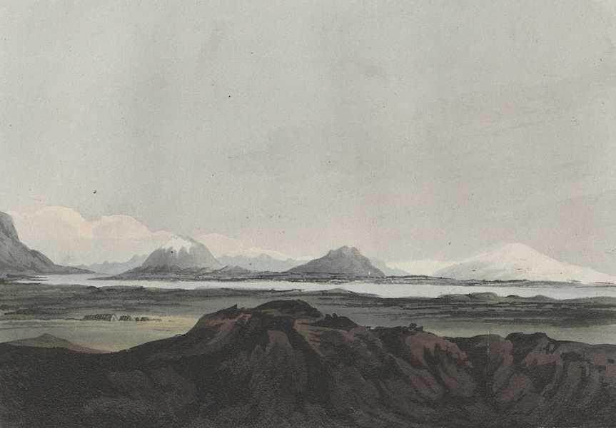 Eyafialla Iokul, Mount Hekla and the River Elvas from the Westward
