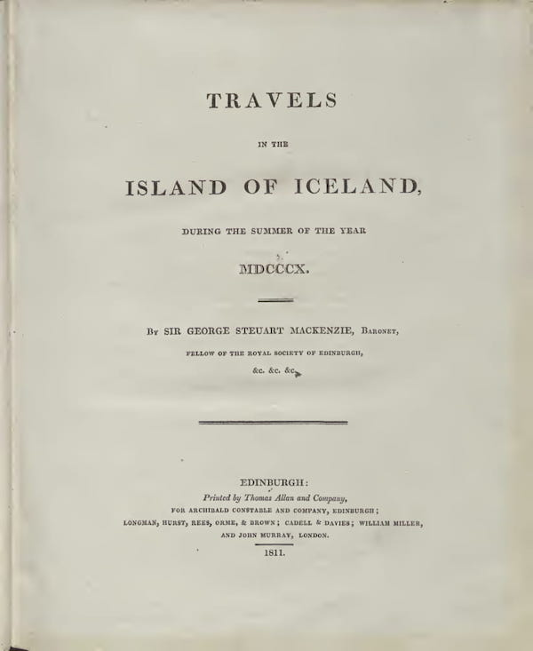Geology - Travels in the Island of Iceland