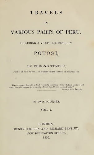 Andes - Travels in Various Parts of Peru Vol. 1