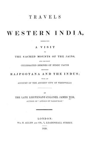 Travels in Western India (1839)
