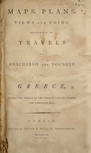 Ancient History - Travels of Anacharsis the Younger in Greece [Atlas]