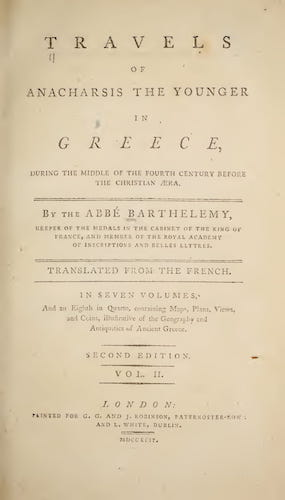 Ancient History - Travels of Anacharsis the Younger in Greece Vol. 2
