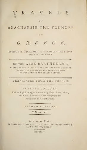Travels of Anacharsis the Younger in Greece Vol. 6 (1794)