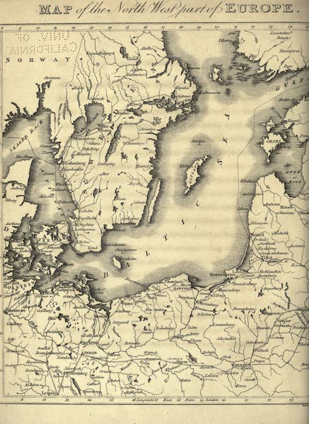 Travels Through Part of the Russian Empire - Map of the North-West Part of Europe (1815)
