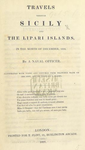 Travels through Sicily, and the Lipari Islands (1827)
