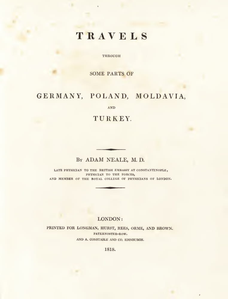 Great Britain - Travels Through Some Parts of Germany, Moldavia and Turkey