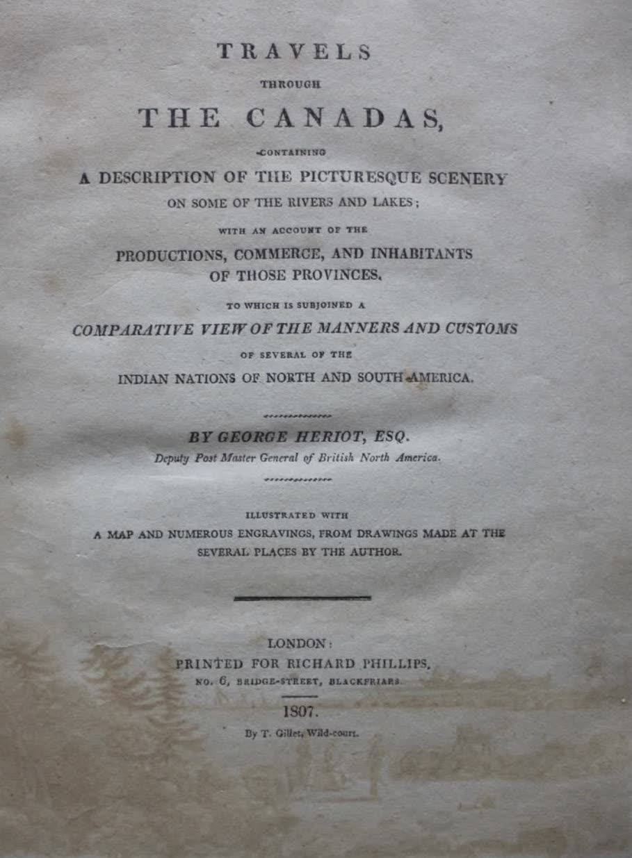 Travels Through the Canadas - Title Page (1807)