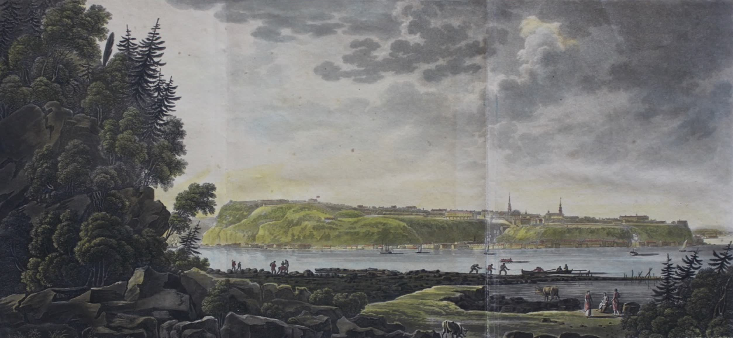 Travels Through the Canadas - Quebec, from Point Leyi (1807)