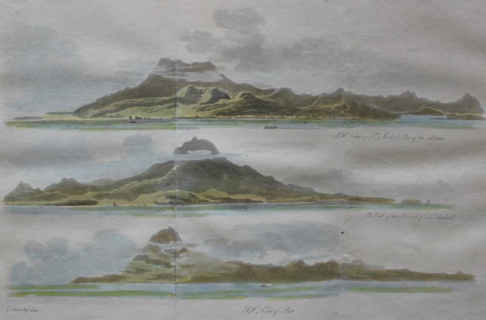 Travels Through the Canadas - View of the Azores (1807)