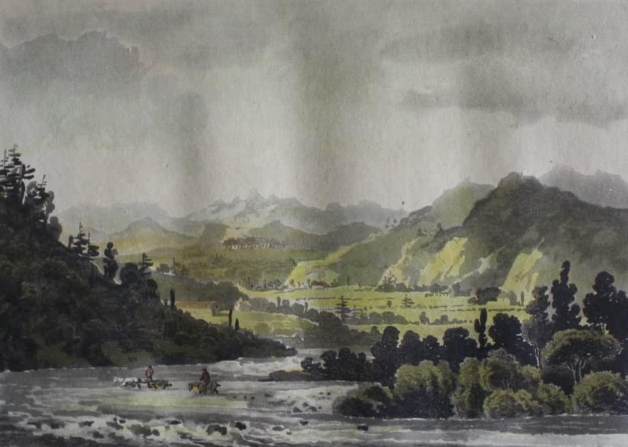 Travels Through the Canadas - View in Saint Paul's Bay (1807)