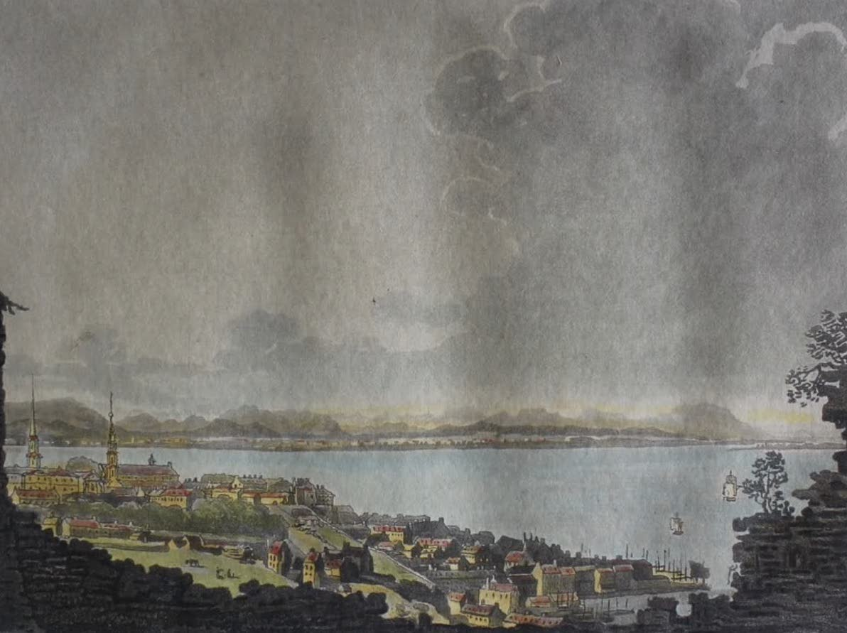 Travels Through the Canadas - Quebec from the Citadel (1807)