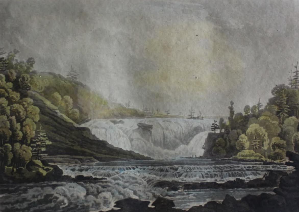 Travels Through the Canadas - Falls of Chaudiere, near Quebec (1807)