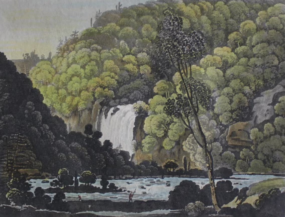 Travels Through the Canadas - Fall of La Puce from the Eastern Bank (1807)