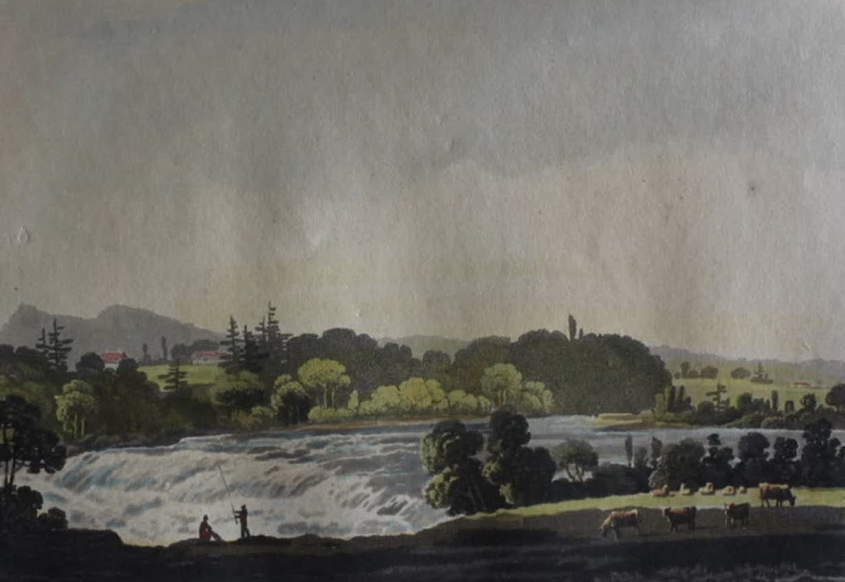 Travels Through the Canadas - View on the River Etchemin (1807)