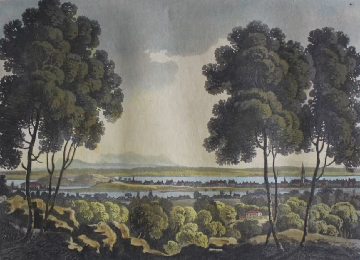 Travels Through the Canadas - Montreal from the Mountain (1807)