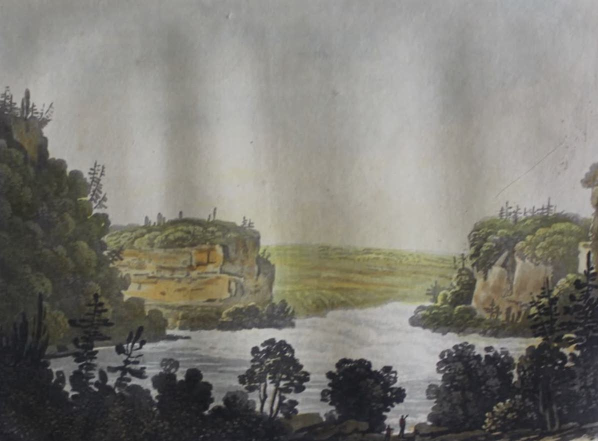 Travels Through the Canadas - Whirlpool of the Saint Lawrence (1807)