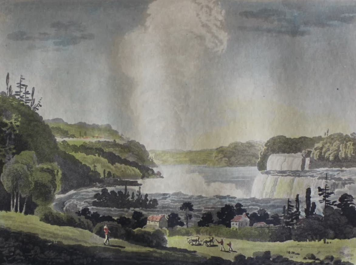 Travels Through the Canadas - Falls of Niagara, from Birch's Mills (1807)